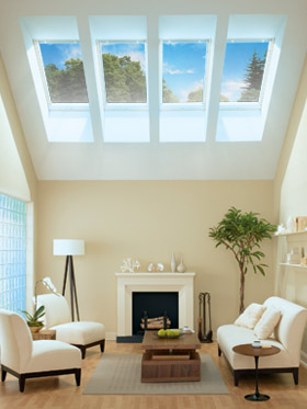 Skylight courtesy of VELUX