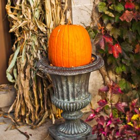 Fall Pumpkin Urn
