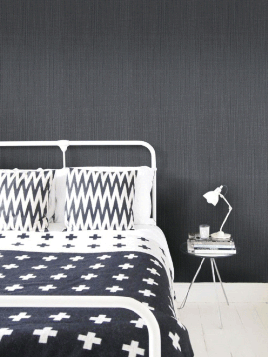 Toile Linen wallpaper, $170/roll, Newwall