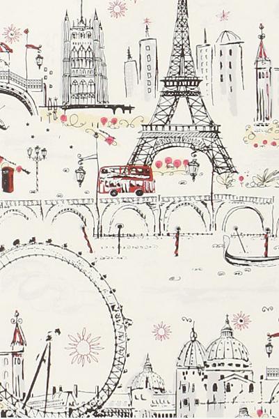 C'est Magnifique wallpaper, $88/roll, Anthropologie